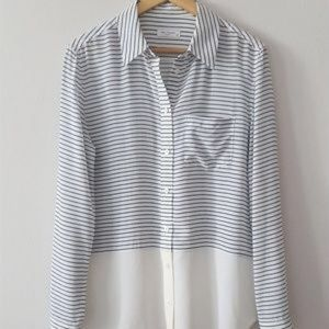Equipment Femme style Reese. Button up silk blouse